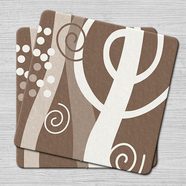 Brown Swirl Stock Coaster