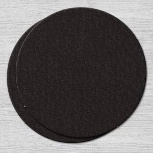 Plain Black Coasters Round Plain Black Coaster Round