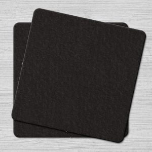 Plain Black Coasters Square Plain Black Coaster Square