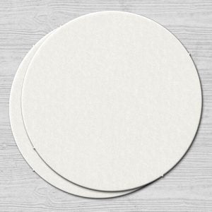 Plain White Coaster Round
