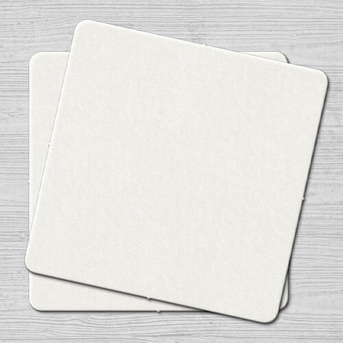Plain White Coaster Square Plain White Coaster Square